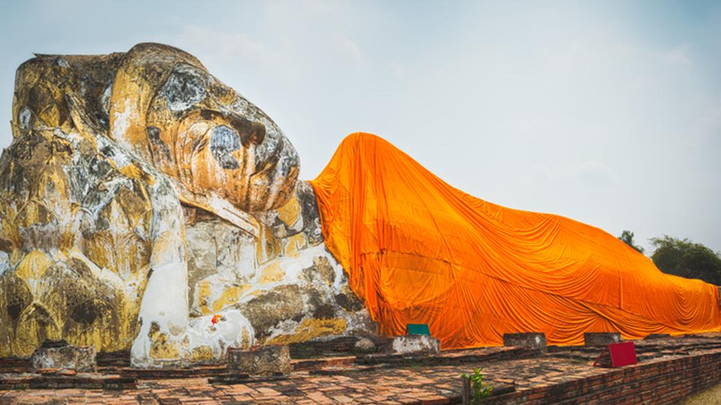 Phra Bhuddhasaiyart / Phra Nonn at Wat Lokayashutharam, Ayutthaya