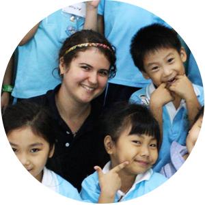 Teaching kids in Thailand