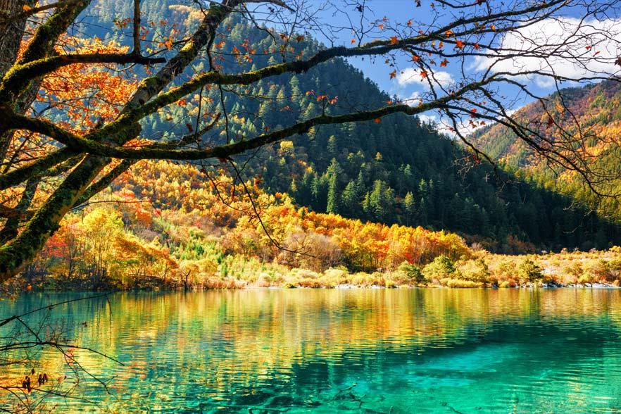 Lake in Jiuzhaigou