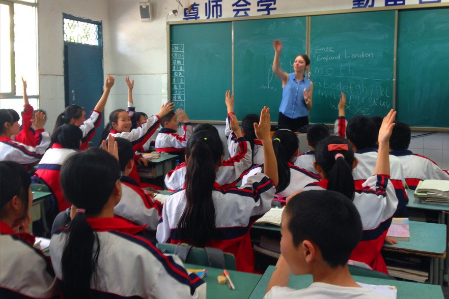 China TEFL course class