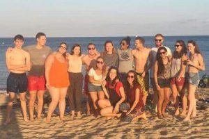 Group of young TEFL students