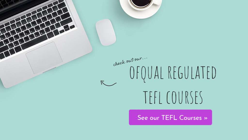 Ofqual regulated TEFL courses banner