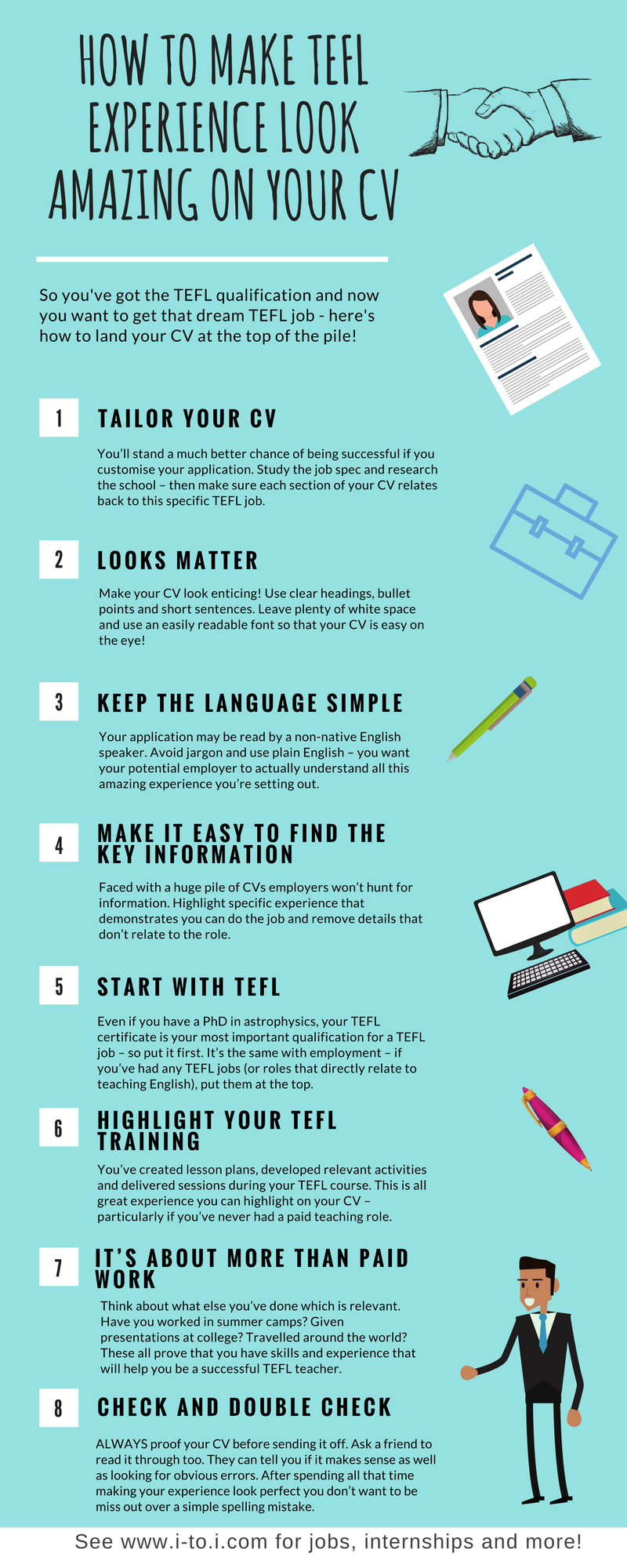 how to make tefl experience look amazing on your cv