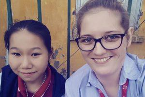 Alexia teaching in Vietnam
