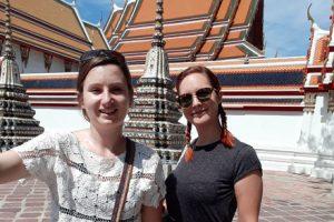 Jenny at Wat Pho, Bangkok, Thailand
