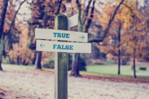 true or false sign