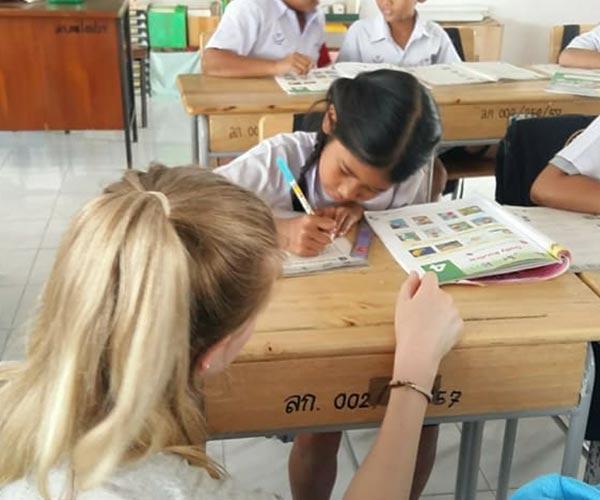 TEFL teacher in a classroom in Asia thailand