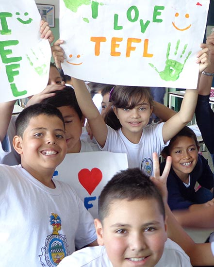TEFL students in South America