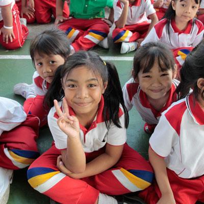 Tefl students smiling