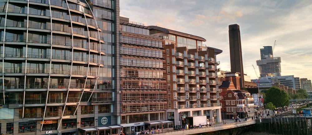 london cityscape sunset england
