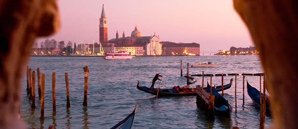 A river scene in Venice, Italy