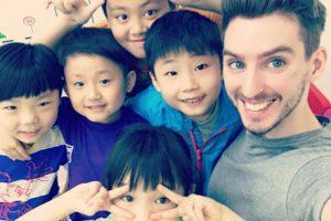 Matthew teaching English in China