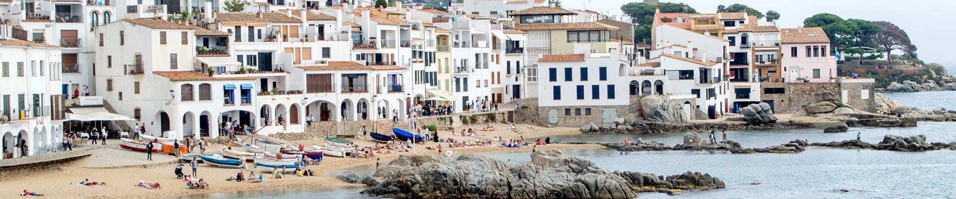 A seaside scene from Europe