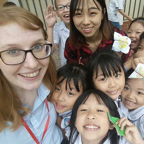 Teaching English with students