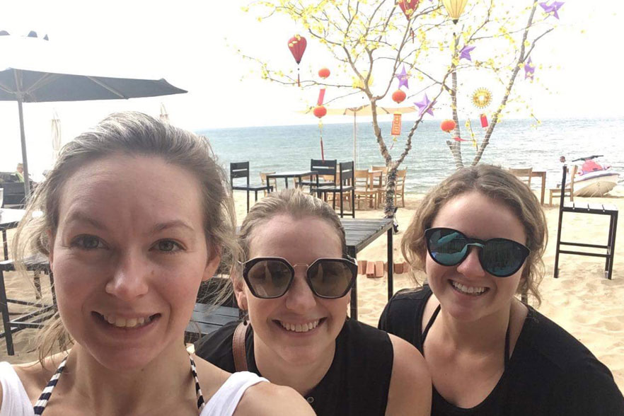 TEFL teachers on a beach in Phu Quoc