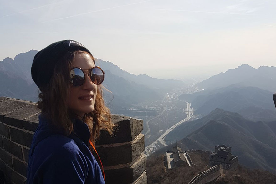 aileen at the great wall