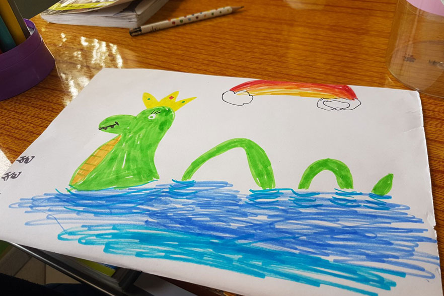 drawing of the lock ness monster