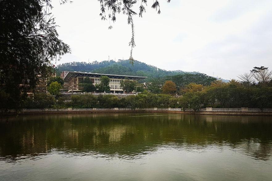 lake on campus