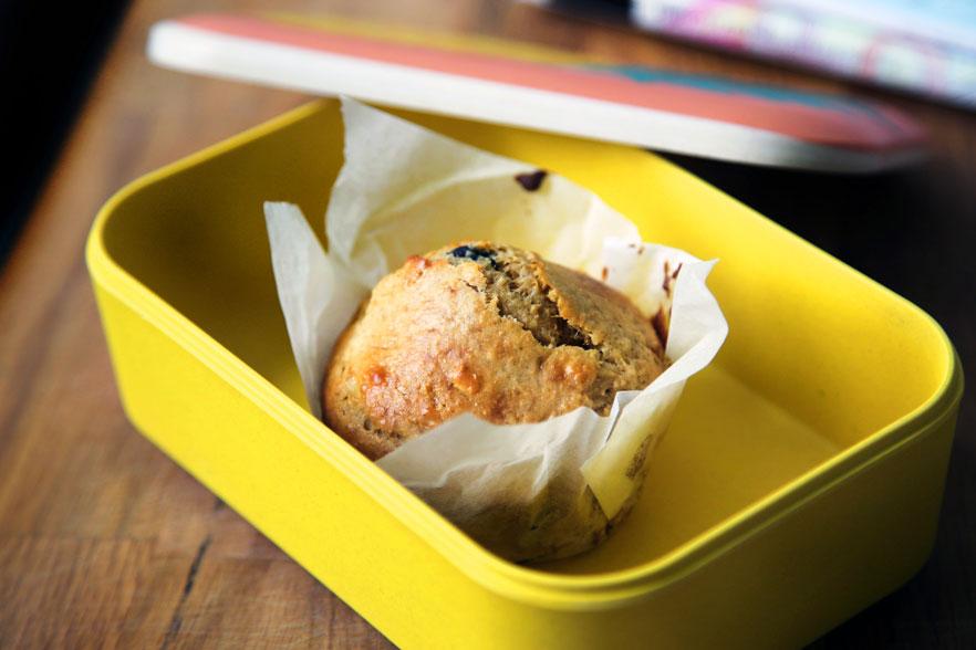 Muffin in lunchbox