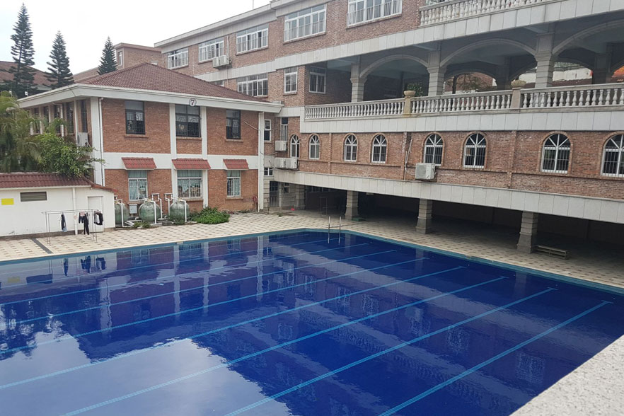 swimming pool on campus