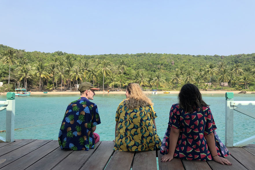 tefl teachers on pier in vietnam