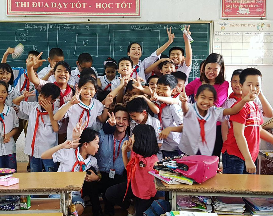 classroom of children with teacher