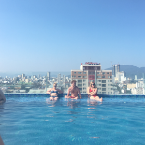 rooftop pool in Vietnam