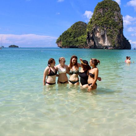 tefl teachers on a beach, koh samet