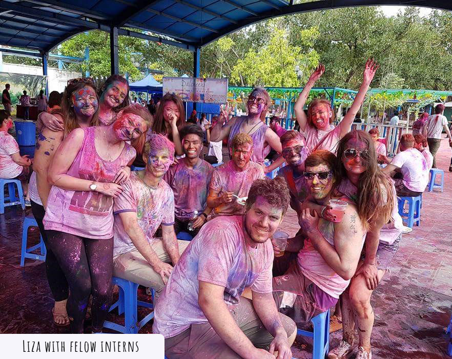 paint celebrations with tefl teacher
