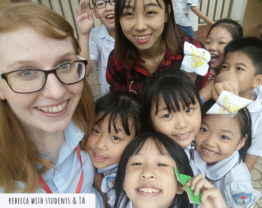 tefl teacher with ta and students
