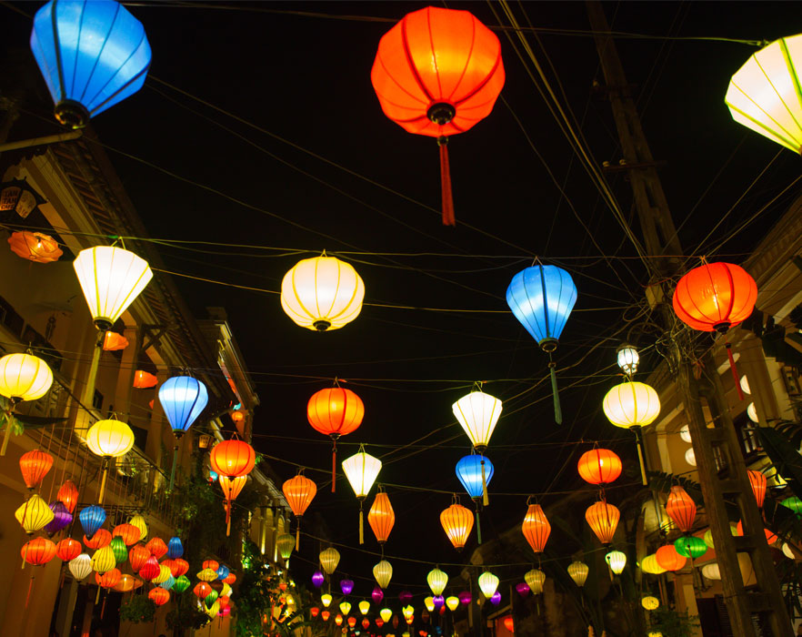 festival lanterns in Vietnam