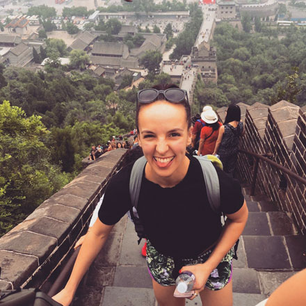 Ariana on the Great Wall