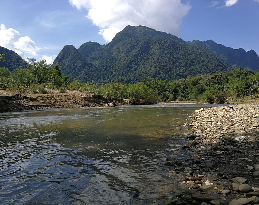 mountain and river in thailand