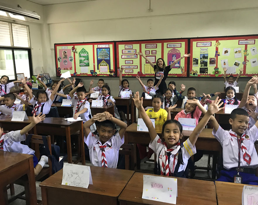Charlotte with her class