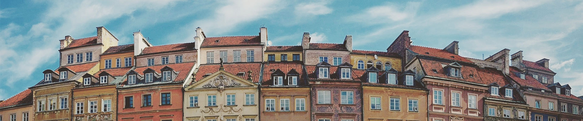 Colourful buildings in Poland