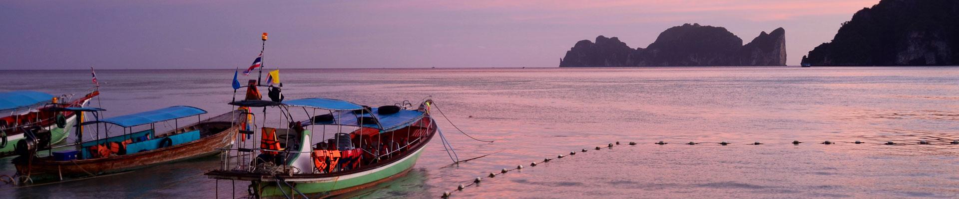 Boat scene in Thailand