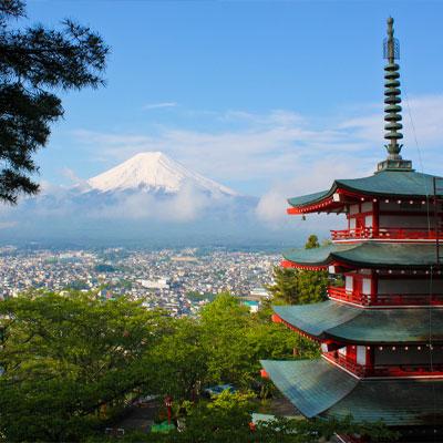 Asia with mountain