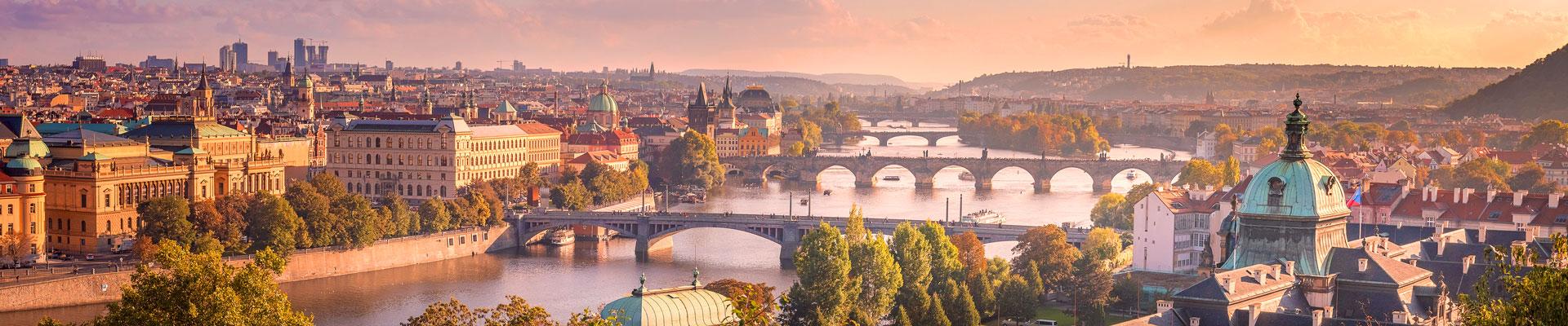 Bridges over a river in the Czech Republic