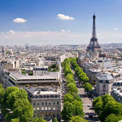 A view of Paris from high up