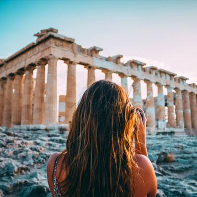 Greece temple ruins