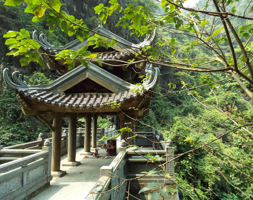 temples in the forrest
