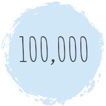 100,000 students icon