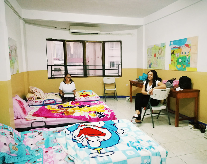On-campus shared room, Cambodia