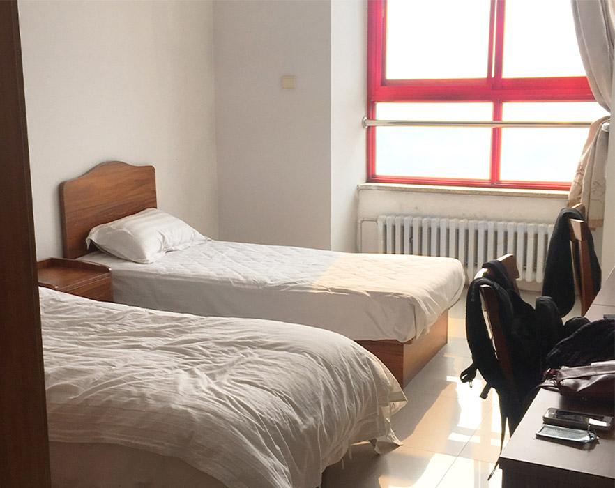 Shared twin room, China