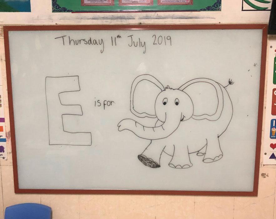 Classroom whiteboard
