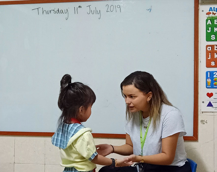 Kat, teaching