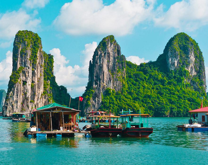 Boats on Halong Bay, Vietnam