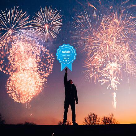 Fireworks - award rosette