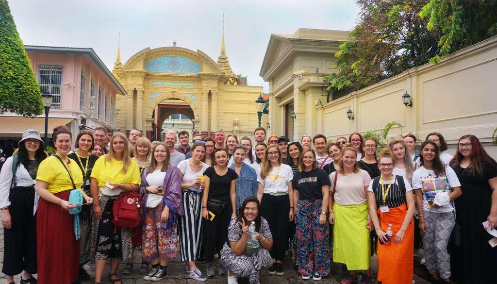 Group of interns in Thailand on orientation