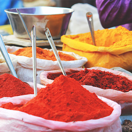 Mix of colourful spices